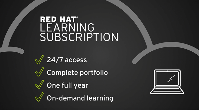 Need to skill-up on Red Hat? Get access to 50+ online courses with 400 hours of content in a Red Hat Learning Subscription