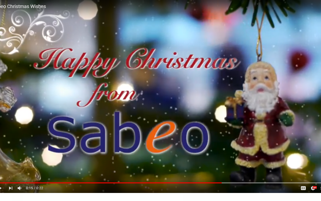 Sabeo wishes to take this opportunity to wish all of our Clients, Partners, Customers, Contractors and Candidates a very happy Christmas and a happy New Year
