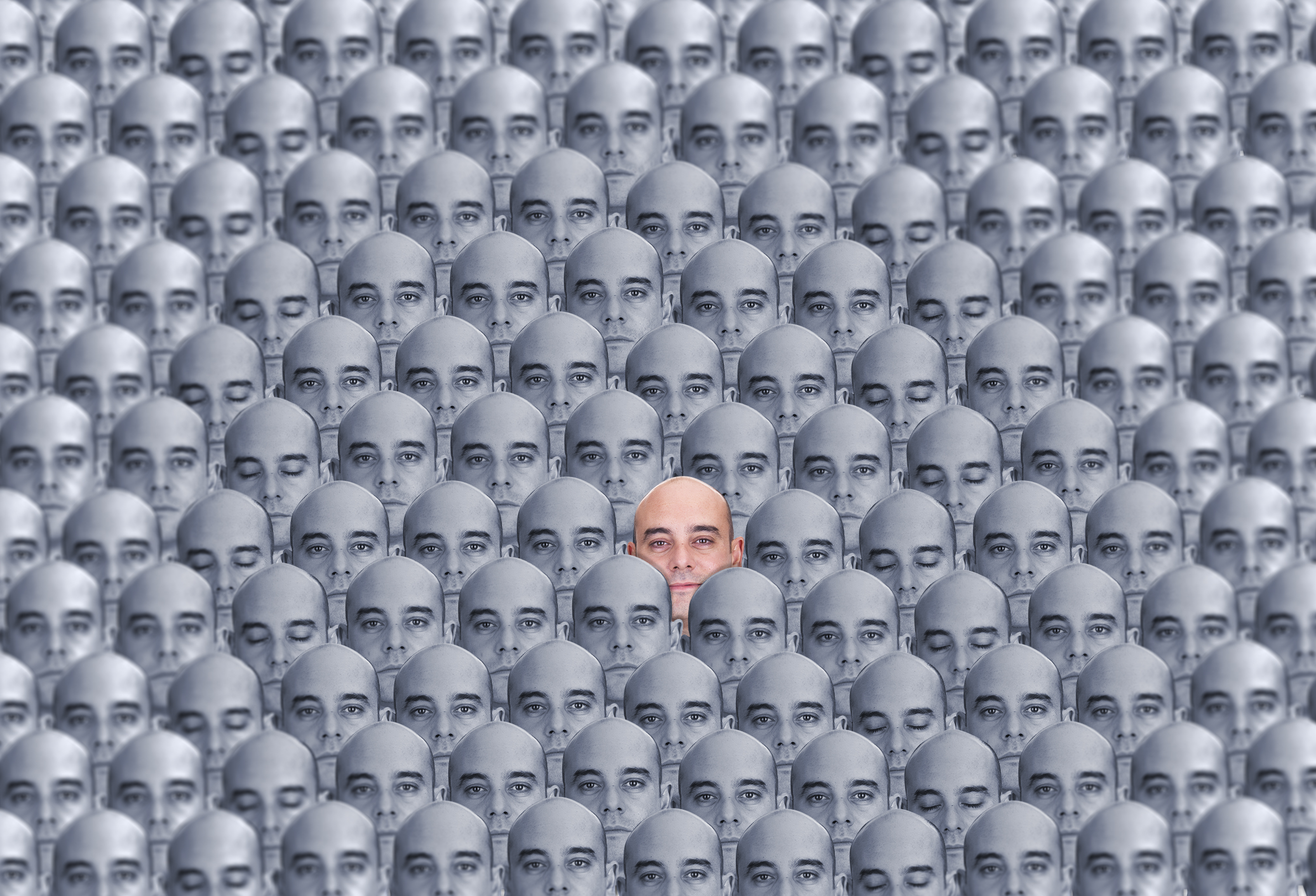 Crowd of heads