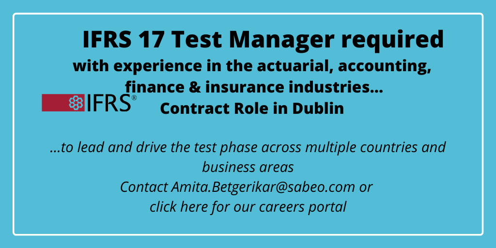 Featured Role – IFRS 17 Test Manager