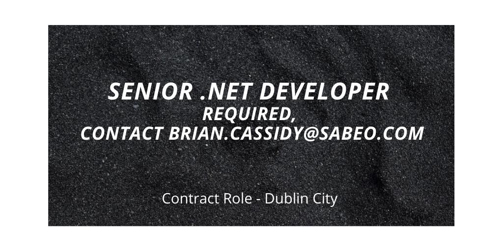 Senior .Net Developer Role