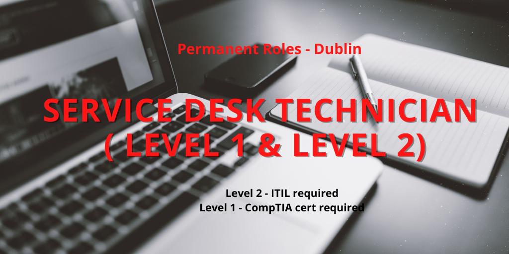 Help Desk Technical Roles – Level 1&2
