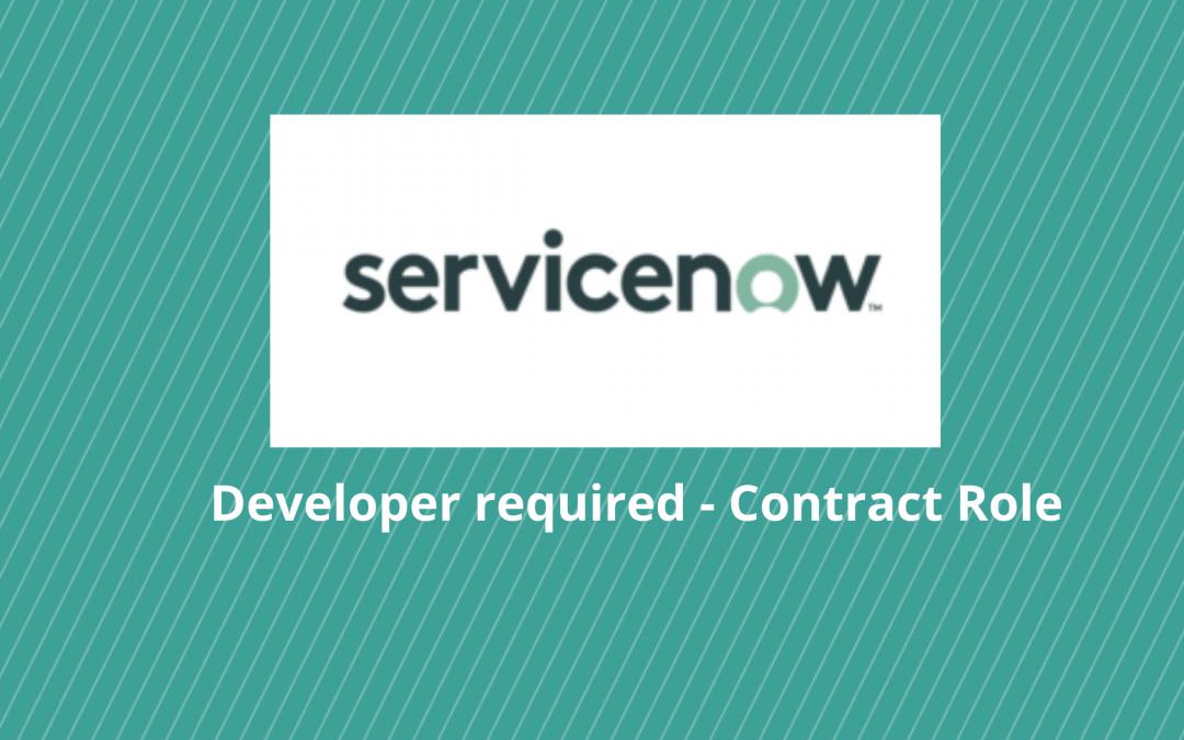 ServiceNow developer