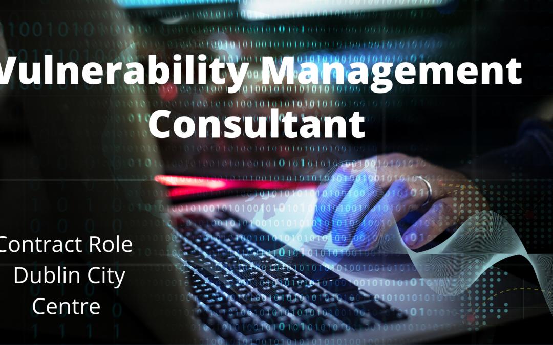 Vulnerability Management Consultant